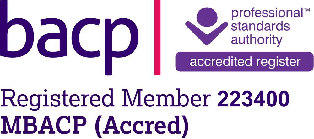 Rebecca Mitchell Counsellor BACP logo, Registered Member 223400 (MBACP)